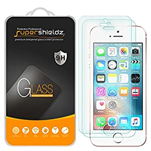 Supershieldz [2-Pack] for iPhone SE/iPhone 5/5S / iPhone 5C Tempered Glass Screen Protector, Anti-Scratch, Anti-Fingerprint, Bubble Free, Lifetime Replacement