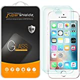 Supershieldz [2-Pack] for iPhone SE/iPhone 5/5S/iPhone 5C Tempered Glass Screen Protector, Anti-Scratch, Anti-Fingerprint, Bubble Free, Lifetime Replacement Warranty