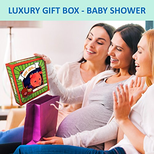ToBeReadyForLife CLOTH BOOK Baby Soft Books for Newborn Babies, 1 Year Old & Toddler, Educational Toy for Boy & Girl, Touch and Feel Activity, Crinkle Peekaboo, Gift Box, Interactive, Washable Fabric