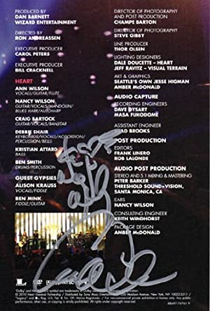 heart ann wilson nancy wilson autographed signed dvd insert aftal