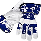 Premium Leather Gardening Gloves for Women (Large) ♣ Heavy Duty Goatskin for Protection & Safety ♣ Best for Planting, Digging, Rose Pruning and Most Garden Works