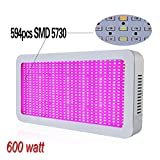 Derlights® 600W Full Spectrum High Power Led grow Light, Red & Blue Mixed with UV+IR 85-265V, For...