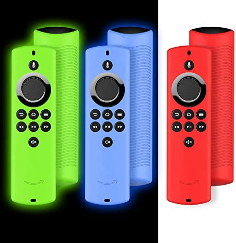[3 Pack] for Fire TV Stick Lite 2020 Remote Case, Light Weight/Anti Slip Silicone Protective Case Cover for TV Stick Lite 2020 Control with Alexa Voice Remote Lite - with Lanyard