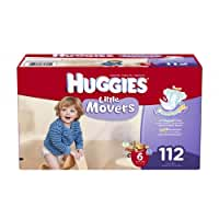 Huggies Little Movers Diapers Economy Plus, Size 6, 112 Count (packaging may vary)