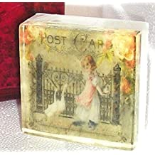 Lavender Chamomile Vintage French Postcard theme soap, Goose Girl Pretty as a picture soap
