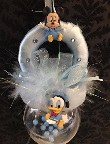 Amazon.com: Baby Shower Blue Baby Mickey and Donald Duck ...