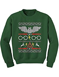 Expression Tees Hogwarts Ugly Christmas Holiday Crewneck Sweatshirt