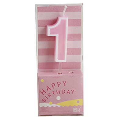 Wawabeauty Rainbow Number 1 Birthday Candle Pink for Cakes Baby Boy Girl Kids Women 1 10 11 12 13 14 15 16 17 18 19 21 Birthday Candles (Number 1): Home & Kitchen