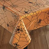 Clear Spiderweb Tablecover for Halloween (9 feet Long) Party Supplies
