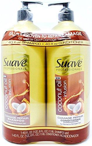 Shampoo Suave Coconut (Suave Coconut Oil Infusion Shampoo and Conditioner Pump, 40 Ounce)