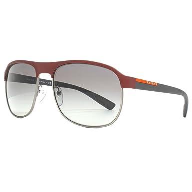 Prada Sport caoutchouc demi jante aviator lunettes de soleil à bordeaux PS  51QS TWM3M1 60 60 Brown Gradient  Amazon.fr  Vêtements et accessoires c8802dd0ccc