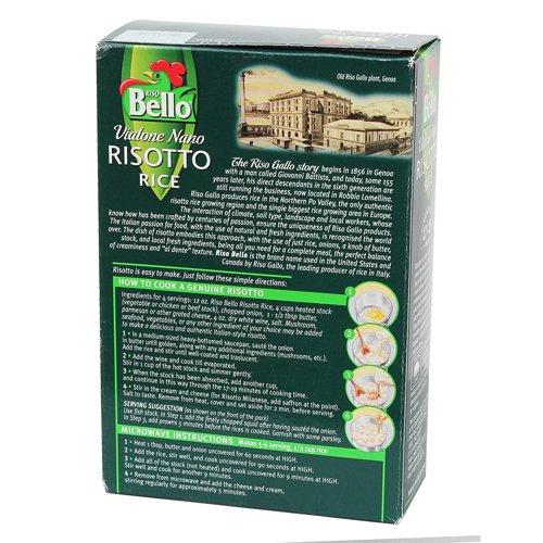 Riso Bello - Vialone Nano Risotto Rice, Gluten Free - 17.5 oz (Pack of 12)