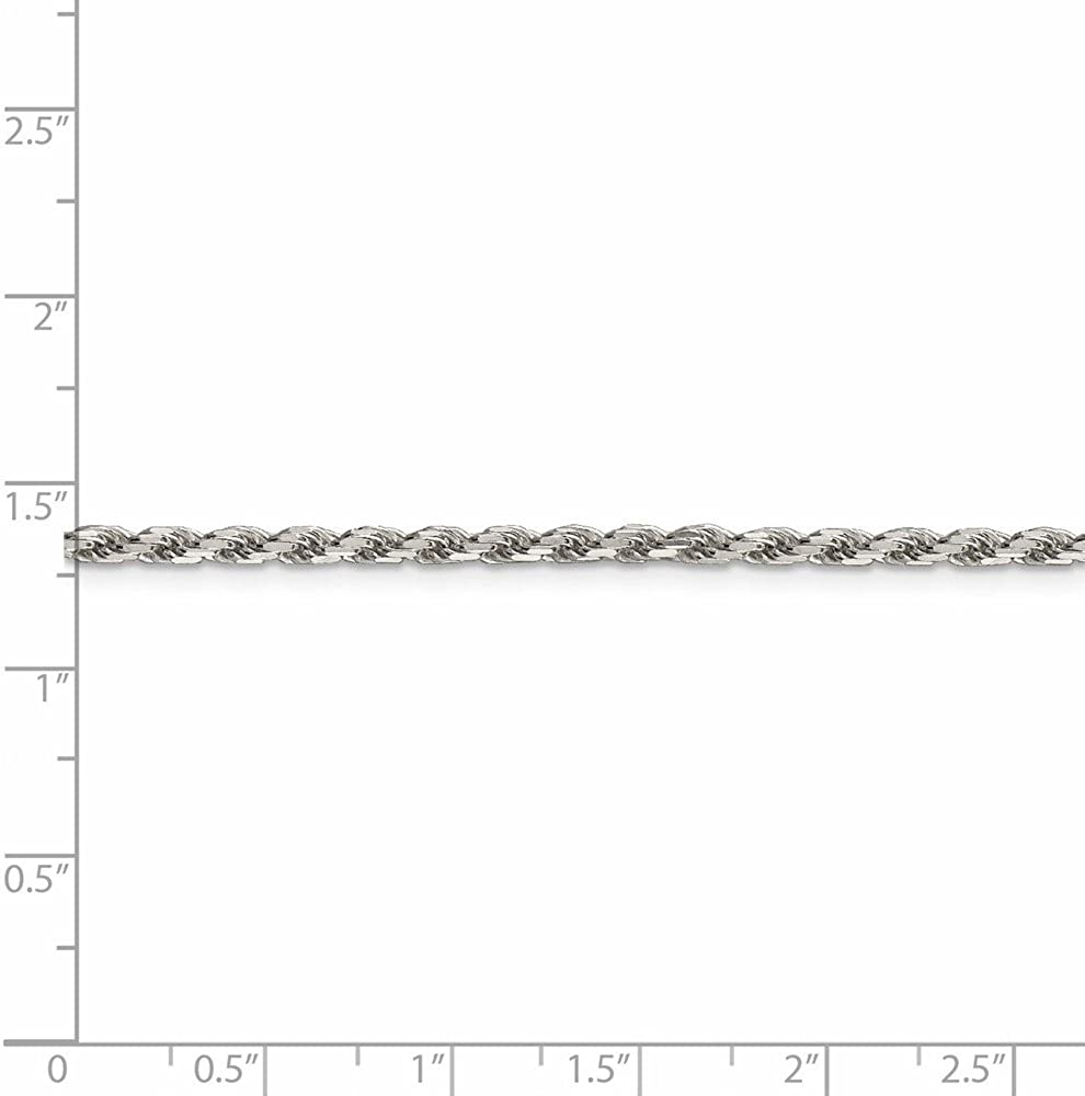 925 Sterling Silver 2.5mm Link Rope Chain Necklace 24 Inch Pendant Charm Fine Jewelry For Women Gift Set