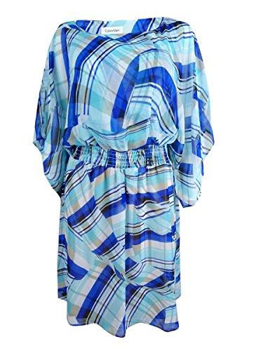 Calvin Klein Au-dessus Des Femmes De Seaglass Vestimentaire Décontracté Genou Imprimé Multicouche
