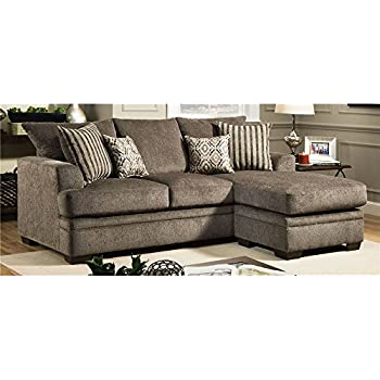 Sensational Amazon Com Chelsea Home Sectional Sofa In Cornell Pewter Pdpeps Interior Chair Design Pdpepsorg