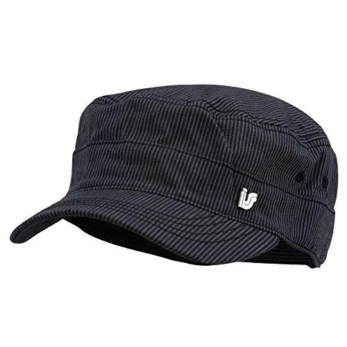 (Men's Pinstripe Adjustable Fidel Cap - Black OSFM)