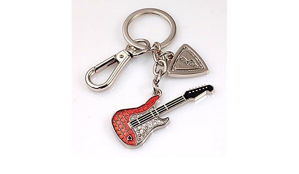 YYHSND Colgante Llavero de Guitarra Llavero de Entusiasta de ...