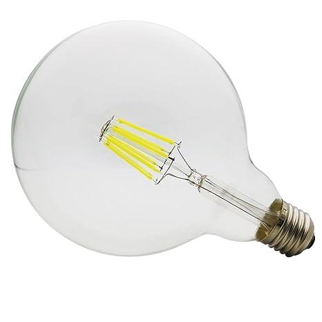 G125 Bombilla LED 8W E27 Ángulo de haz de 360 grados, LED Globo Edison Filamento
