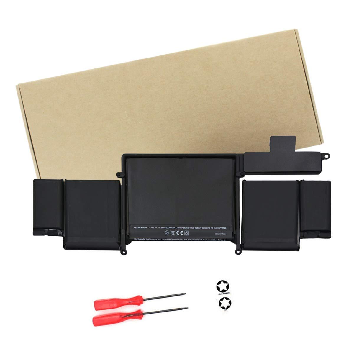 Bateria Para Macbook Pro A1493 Macbook Pro 13 A1502 2013 Me864 Me865 11.34v-6 Celdas 6330mah 12 Month