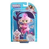 Fingerlings Glitter Monkey - Rose (Pink Glitter) - Interactive Baby Pet - By WowWee