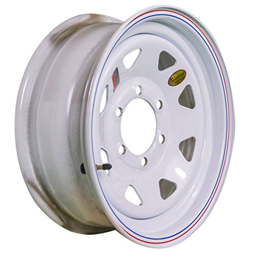 16 Inch 6 Spoke - Arcwheel White Spoke Steel Trailer Wheel - 16