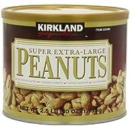 Kirkland Signature Super XL VA Peanuts, 40 Ounce, Light Brown