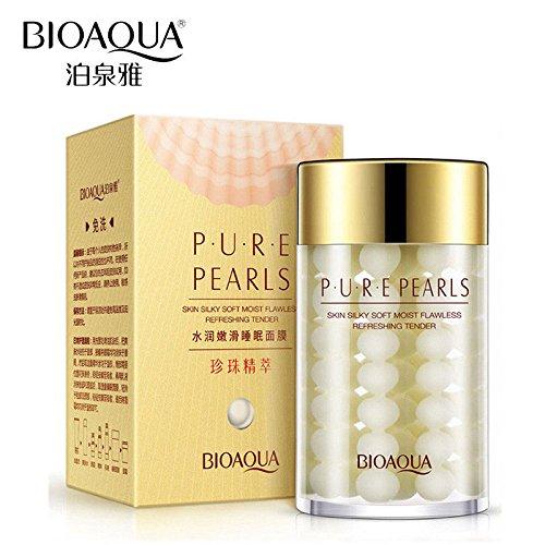 BIOAQUA Face Cream Pure Silk Pearl Essence Hyaluronic Acid Balance Water Oil Moisturizing 60g