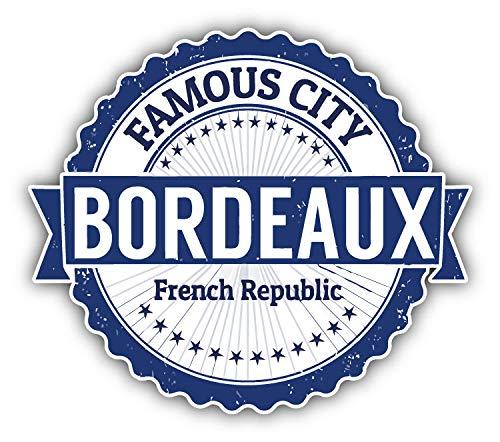 Bordeaux City France Grunge Travel Stamp Window Truck Car Bumper Sticker Decal 5