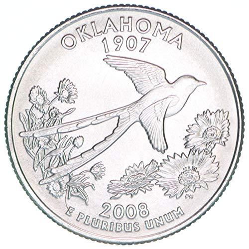 2008 D State Quarter Oklahoma Satin Finish Brilliant Uncirculated