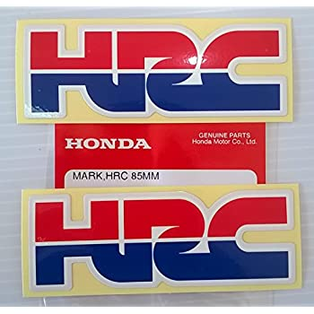 2 x HONDA - HRC (Honda Racing Corporation) DECAL STICKER BADGE - L 85mm x H 30mm 100% Genuine