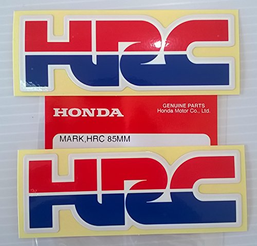 2 X Honda   Hrc  Honda Racing Corporation  Decal Sticker Badge   L 85Mm X H 30Mm 100  Genuine