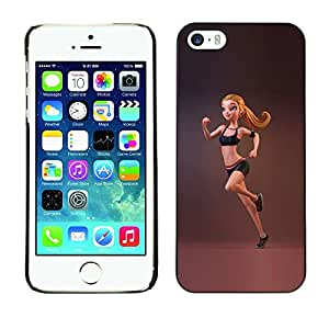 SKCASE Center / Funda Carcasa - Montar mujer gimnasta Correr;;;;;;;; - iPhone 5 / 5S