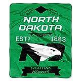 North Dakota OFFICIAL Collegiate, Label 50 x 60 Raschel Throw