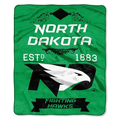 North Dakota OFFICIAL Collegiate, Label 50 x 60 Raschel Throw by Northwest Official