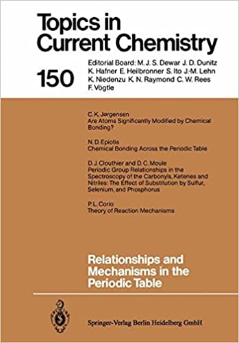 Relationships And Mechanisms In The Periodic Table Topics In