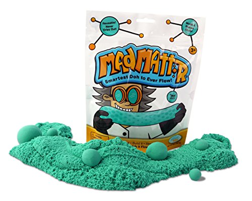 Mad Mattr Super-Soft Modelling Dough Compound that Never Dries Out, 10 Ounces, Teal