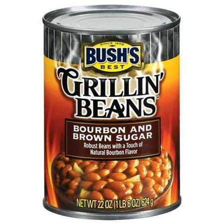 Bush's Best, Grillin' Beans, Bourbon & Brown Sugar, 22oz Can (Pack of 6)
