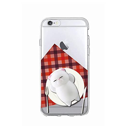 9 opinioni per Cover iPhone 5s, Squishy 3D Animal Animale Cat Gatto iPhone 5s Case, Cute Stress
