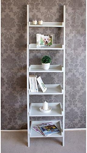 Casamoré Gloucester de altura estrecha escalera de madera estante estantería de almacenamiento unidad de pantalla – Entrega gratuita: Amazon.es: Oficina y papelería