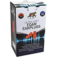 Lynx Ultra Soft Foam Ear Plugs, [200 Pairs], 32dB Highest...