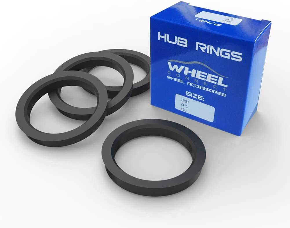 O.D:73.1-I.D:67.1mm. ABS Plastic Hubrings Set of 4 Wheel Connect Hub Centric Rings