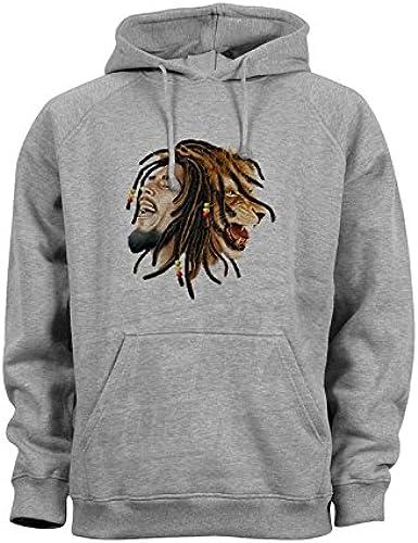 Reggae-Lo?We-Rastafari suéter Capucha Jersey Hoodie ...