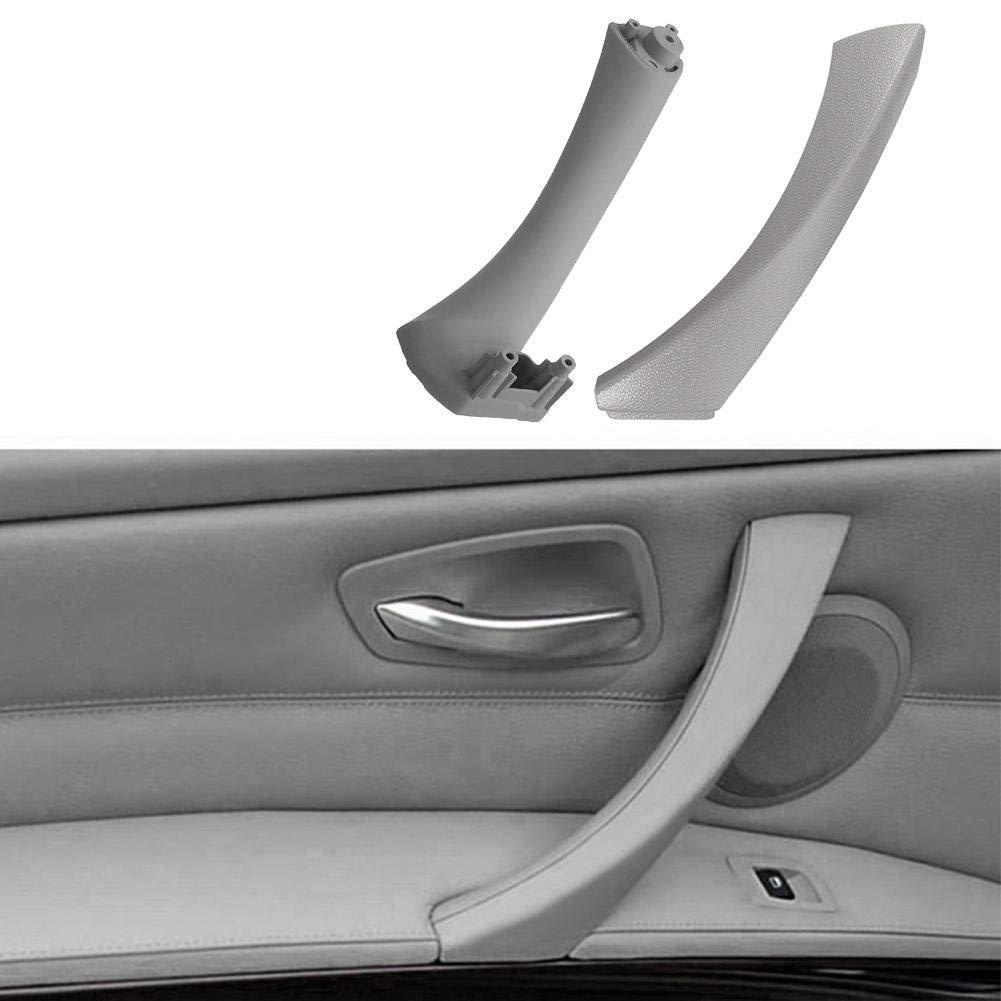 Couverture Tuankayuk pour E90 E91 Gris 2pcs Poign/ée de Panneau de Porte Int/érieure Avant Droite Pull Trim