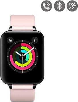 Montre connectée Bluetooth avec capteur Cardiaque Rose
