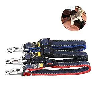 AUOKER Cinturón de Seguridad Ajustable para Perro, Perro, Gato ...