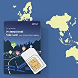 GMYLE 4G LTE/3G International Rechargeable Prepaid SIM Card with 5GB Internet Data Bundle for 14 Days in Over 50 Countries and Regions : Europe, China, Japan, Korea, Thailand, Taiwan, Hong Kong etc.