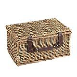 VonShef-Luxus-2-Personen-Traditioneller-Weidenkorb-Picknickkorb-mit-Besteck-Tellern-Glsern-Geschirr-Fleecedecke