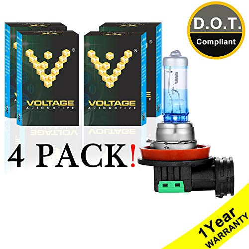 Voltage Automotive H11 Headlight Bulb Night Eagle 40 Percent Brighter