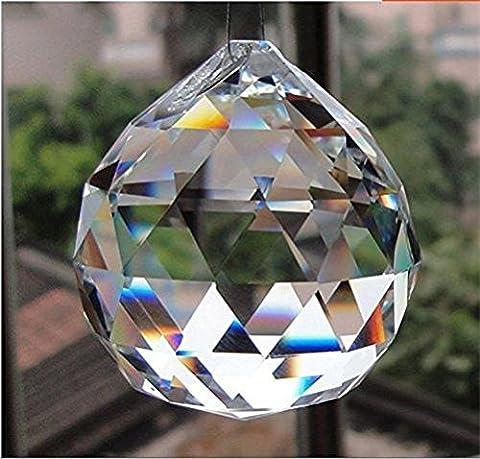 Doloburn 50mm Large Crystal Ball Prism Pendant (Crystal Prism Pendant)