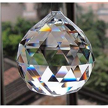 Amazon doloburn 50mm large crystal ball prism pendant garden doloburn 50mm large crystal ball prism pendant aloadofball Images